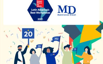 MD dentro de las mejores 20 empresas para trabajar en Latinoamérica